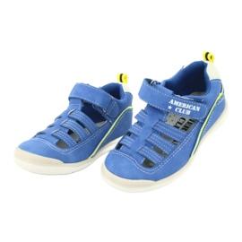 Sandałki chłopięce rzep American Club GC12/20 wielokolorowe niebieskie 2