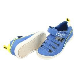 Sandałki chłopięce rzep American Club GC12/20 wielokolorowe niebieskie 4