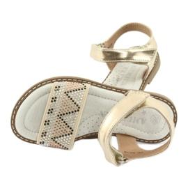 Sandałki dziewczęce metaliczne American Club GC08/20 złoty 5