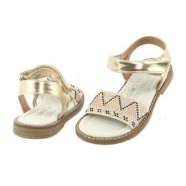 Sandałki dziewczęce metaliczne American Club GC08/20 złoty 4