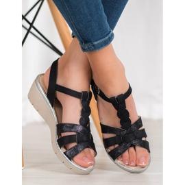 Kylie Lekkie Sandałki czarne 2