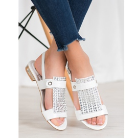 Kylie Białe Sandały Damskie 3