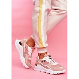 SEA Sportowe Damskie Buty Sneakersy Biało Różowe Martina 3