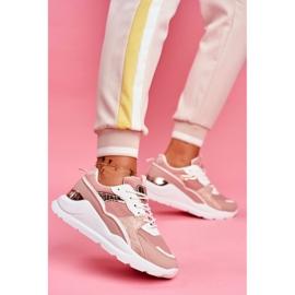 SEA Sportowe Damskie Buty Sneakersy Biało Różowe Martina 1