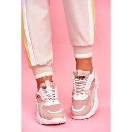 SEA Sportowe Damskie Buty Sneakersy Biało Różowe Martina 2