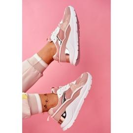 SEA Sportowe Damskie Buty Sneakersy Biało Różowe Martina 5