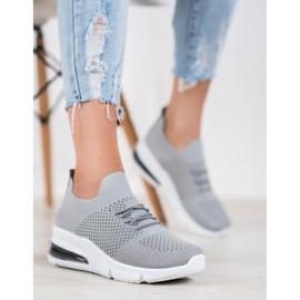 Sweet Shoes Tekstylne Buty Sportowe szare 3