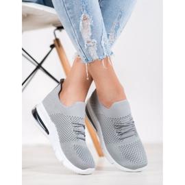 Sweet Shoes Tekstylne Buty Sportowe szare 4