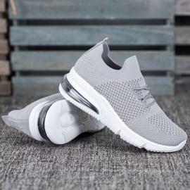 Sweet Shoes Tekstylne Buty Sportowe szare 1