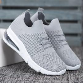 Sweet Shoes Tekstylne Buty Sportowe szare 2