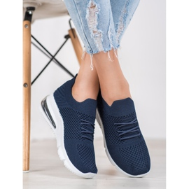Sweet Shoes Tekstylne Buty Sportowe niebieskie 4