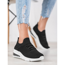 Sweet Shoes Tekstylne Buty Sportowe czarne 2