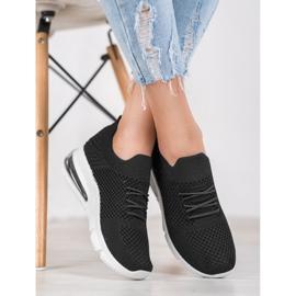 Sweet Shoes Tekstylne Buty Sportowe czarne 3