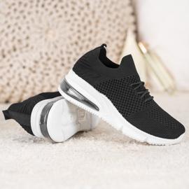 Sweet Shoes Tekstylne Buty Sportowe czarne 4