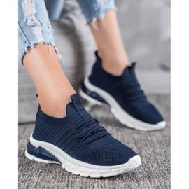 Bella Paris Ażurowe Sneakersy niebieskie 1
