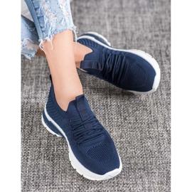 Bella Paris Ażurowe Sneakersy niebieskie 2
