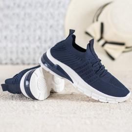 Bella Paris Ażurowe Sneakersy niebieskie 4