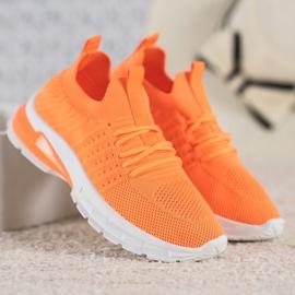 Bella Paris Ażurowe Sneakersy pomarańczowe 4