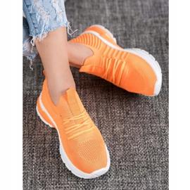Bella Paris Ażurowe Sneakersy pomarańczowe 1