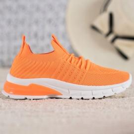 Bella Paris Ażurowe Sneakersy pomarańczowe 2