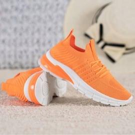 Bella Paris Ażurowe Sneakersy pomarańczowe 3