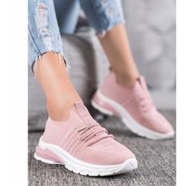 Bella Paris Ażurowe Sneakersy różowe 1