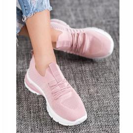 Bella Paris Ażurowe Sneakersy różowe 2