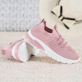 Bella Paris Ażurowe Sneakersy różowe 4