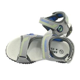 American Club Sandałki wkładka skórzana American HL20/20 niebieskie szare zielone 4