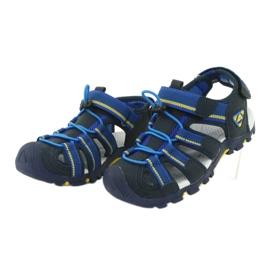 American Club Buty dziecięce sandałki z wkładką piankową American DR01/20 granatowe niebieskie żółte 2
