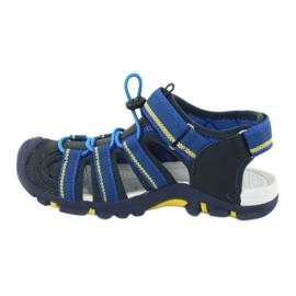 American Club Buty dziecięce sandałki z wkładką piankową American DR01/20 granatowe niebieskie żółte 1