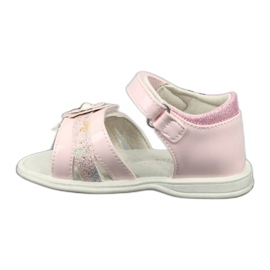 Sandałki dziewczęce kwiatki American Club XD12/20 różowe 1