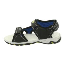 Sandałki chłopięce sportowe American Club RL30/20 czarne niebieskie żółte 1