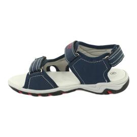 Sandałki chłopięce sportowe American Club RL30/20 czerwone granatowe szare 1