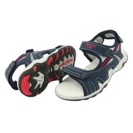 Sandałki chłopięce sportowe American Club RL30/20 czerwone granatowe szare 3