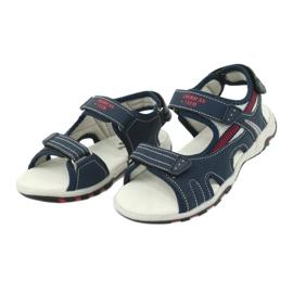 Sandałki chłopięce sportowe American Club RL30/20 czerwone granatowe szare 2