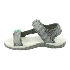 Sandałki z wkładką skórzaną American Club RL24/20 szare zielone 1