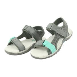 Sandałki z wkładką skórzaną American Club RL24/20 szare zielone 2