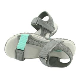 Sandałki z wkładką skórzaną American Club RL24/20 szare zielone 4