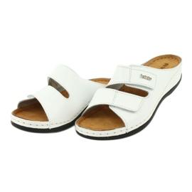 Inblu obuwie damskie klapki 158D107 białe 2