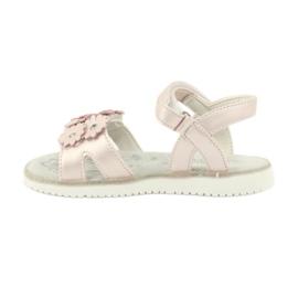 Sandałki perliste cekiny American Club XD10/20 różowe 1