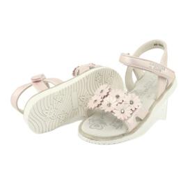 Sandałki perliste cekiny American Club XD10/20 różowe 3