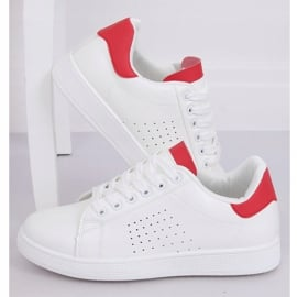 Trampki damskie biało-czerwone LV101P Red białe 1