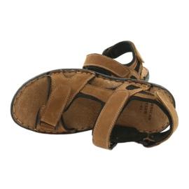 Sandały męskie rzepy American Club CY15/20 brązowe 5