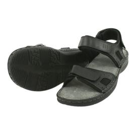 Komfortowe sandały sportowe skórzane American Club CY13/20 czarne 4