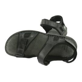 Komfortowe sandały sportowe skórzane American Club CY13/20 czarne 5