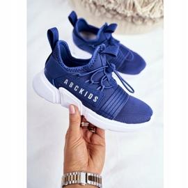 Sportowe Buty Dziecięce Młodzieżowe Granatowe ABCKIDS B012310074 2