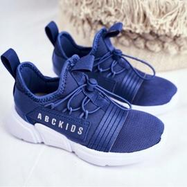 Sportowe Buty Dziecięce Młodzieżowe Granatowe ABCKIDS B012310074 1