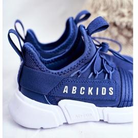 Sportowe Buty Dziecięce Młodzieżowe Granatowe ABCKIDS B012310074 3