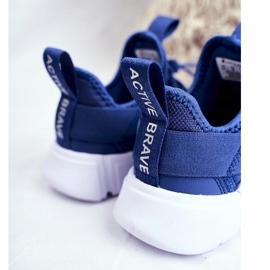 Sportowe Buty Dziecięce Młodzieżowe Granatowe ABCKIDS B012310074 4